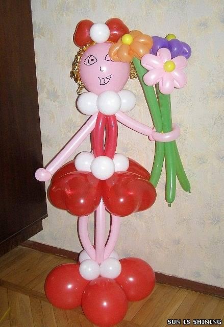Девушка из воздушных шаров своими руками 44